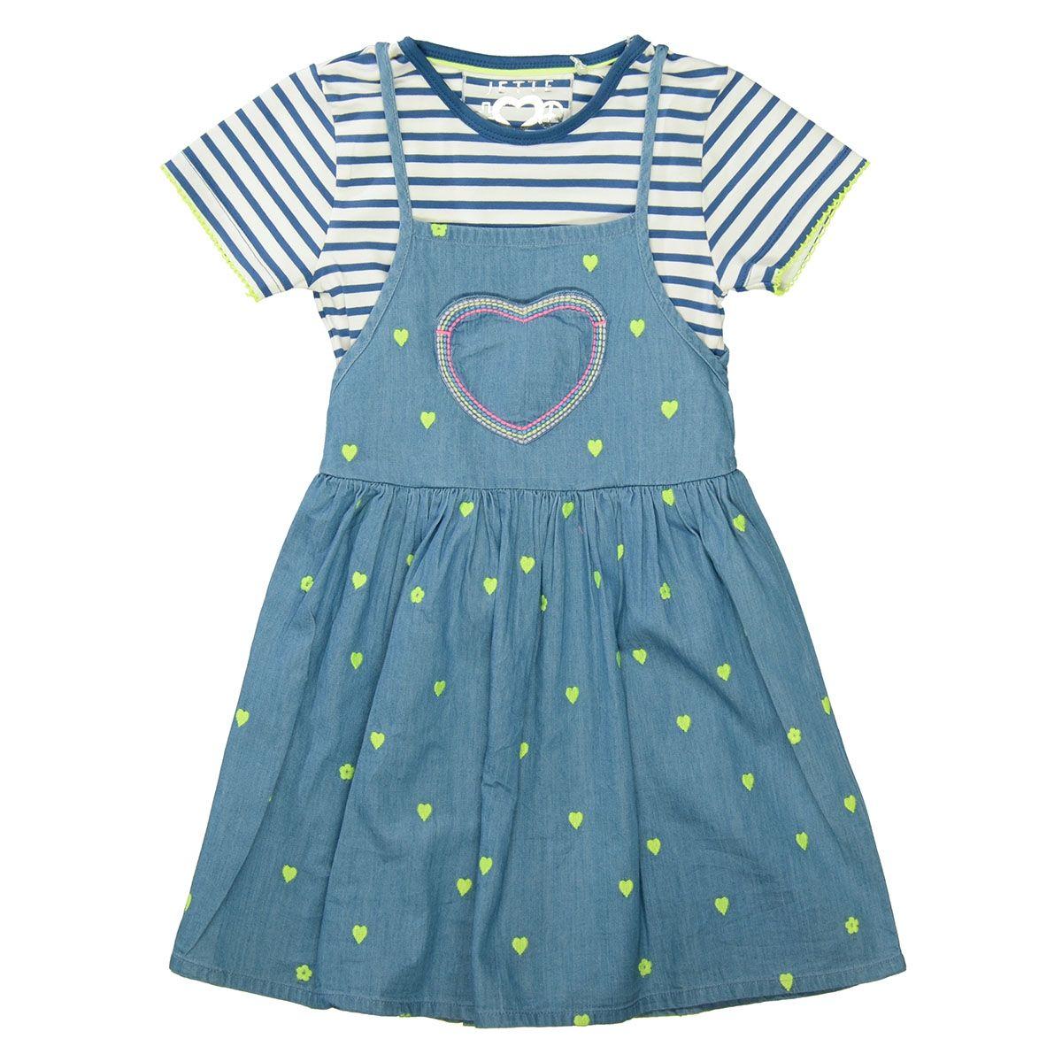 JETTE Kleid mit T-Shirt - Mid Blue Denim