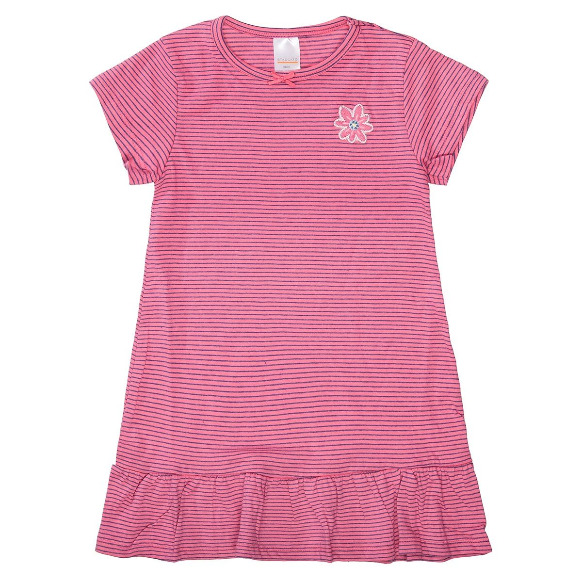 Sleepshirt mit Ringelmuster - Pink