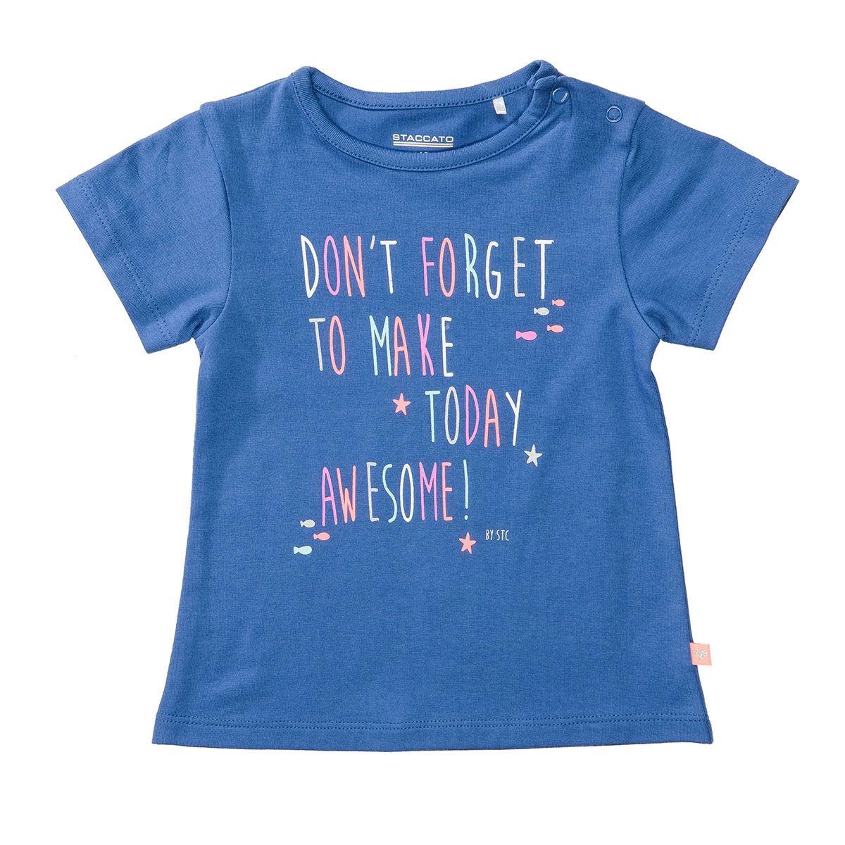T-Shirt mit Wording-Print - Soft Tinte