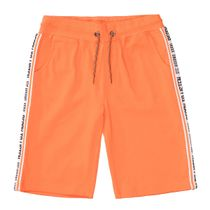 Sweat-Bermudas mit Seitenstreifen - Orange