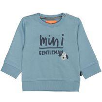 Sweatshirt mit Wording-Print - Ice Blue
