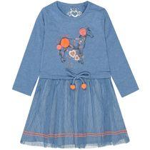 Kleid mit Tüllrock- Sky Melange