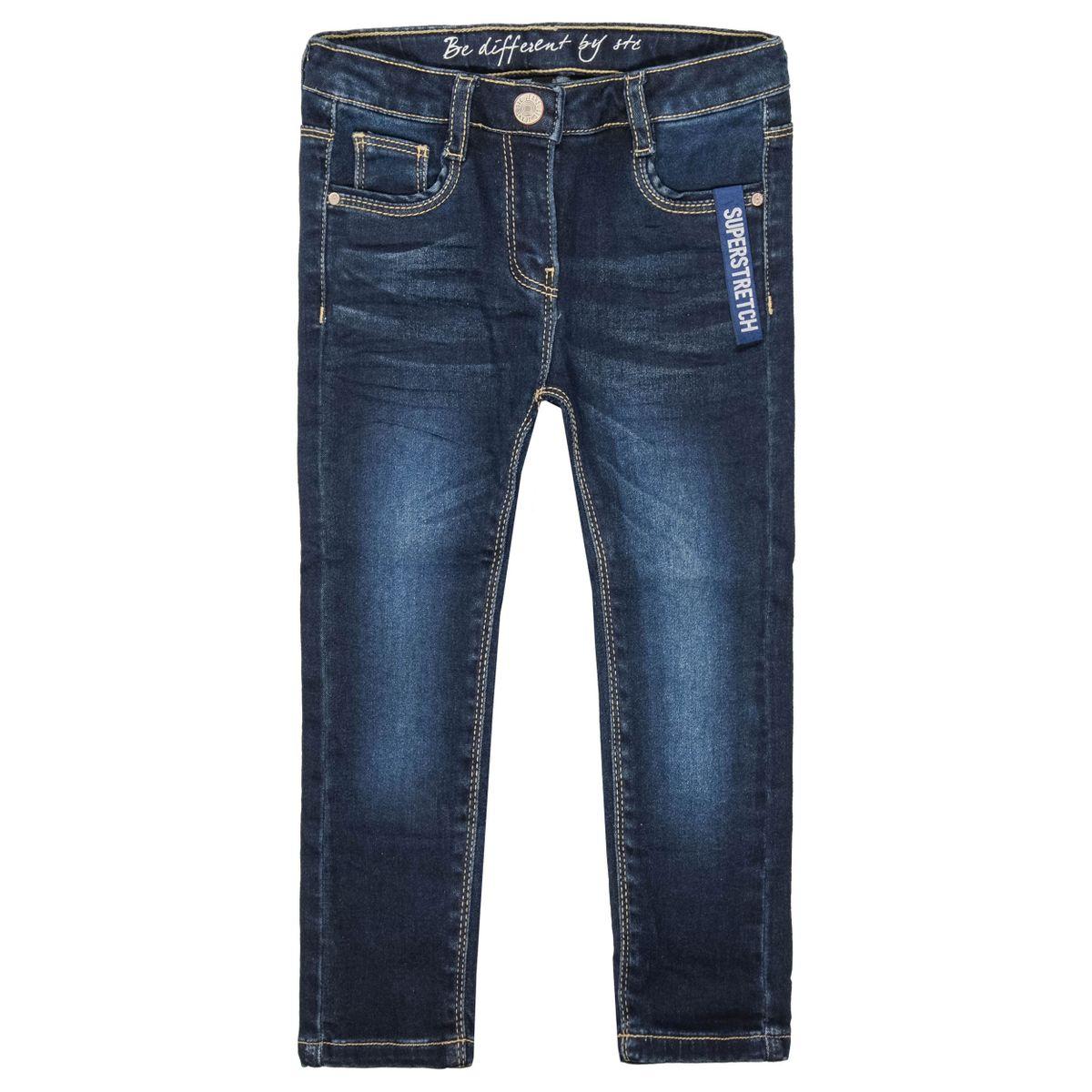 Mädchen Skinny Jeans Regular Fit - Dark Blue Denim