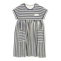 MARC O'POLO Jersey-Kleid mit aufgesetzten Taschen - Washed Blue