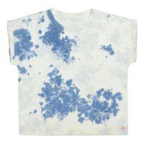 Batik T-Shirt mit Ausbrenner-Optik - Sea Blue