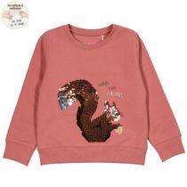 WENDEPAILLETTEN Sweatshirt mit Wording-Print - Dark Terracotta