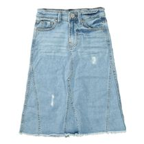 Jeans Rock mit Destroyed-Elementen - Light Blue Denim