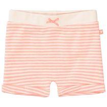 ORGANIC COTTON Shorts mit Allover-Print - Neon Coral