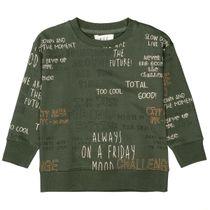Sweatshirt mit Rundhalsausschnitt - Dark Pine