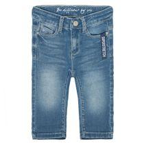Mädchen Capri Jeans Slim Fit - Light Blue Denim