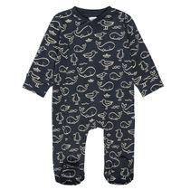 ORGANIC COTTON Pyjama mit Allover-Print - Marine