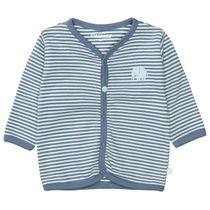 ORGANIC COTTON Jacke mit Allover-Print - Soft Jeans Blue Streifen