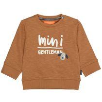 Sweatshirt mit Wording-Print - Camel