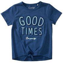 T-Shirt mit Wording - Dark Blue Melange