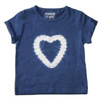 T-Shirt mit Batik-Herz auf der Front - Dark Blue
