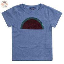 ATTENTION WENDEPAILLETTEN T-Shirt - Indigo Blue