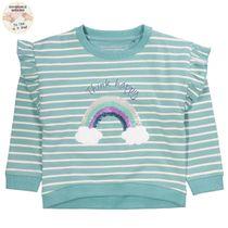 WENDEPAILLETTEN Sweatshirt mit Streifen-Design - Mint Melange