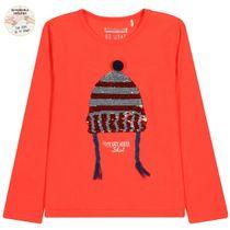WENDEPAILLETTEN Shirt Cozy Winter - Cayenne