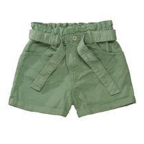 Shorts mit Bindegürtel - Khaki