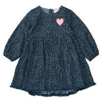 JETTE Kleid mit Animal-Print - Denim Blue AOP
