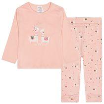 ORGANIC COTTON Pyjama Zweiteilig LOVE - Blush