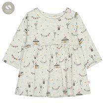ORGANIC COTTON Kleid ZIRKUS mit Allover-Print - Soft Creme Melange