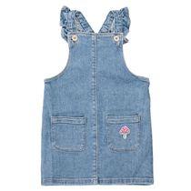 Denim-Trägerkleid mit Taschen - Mid Blue Denim