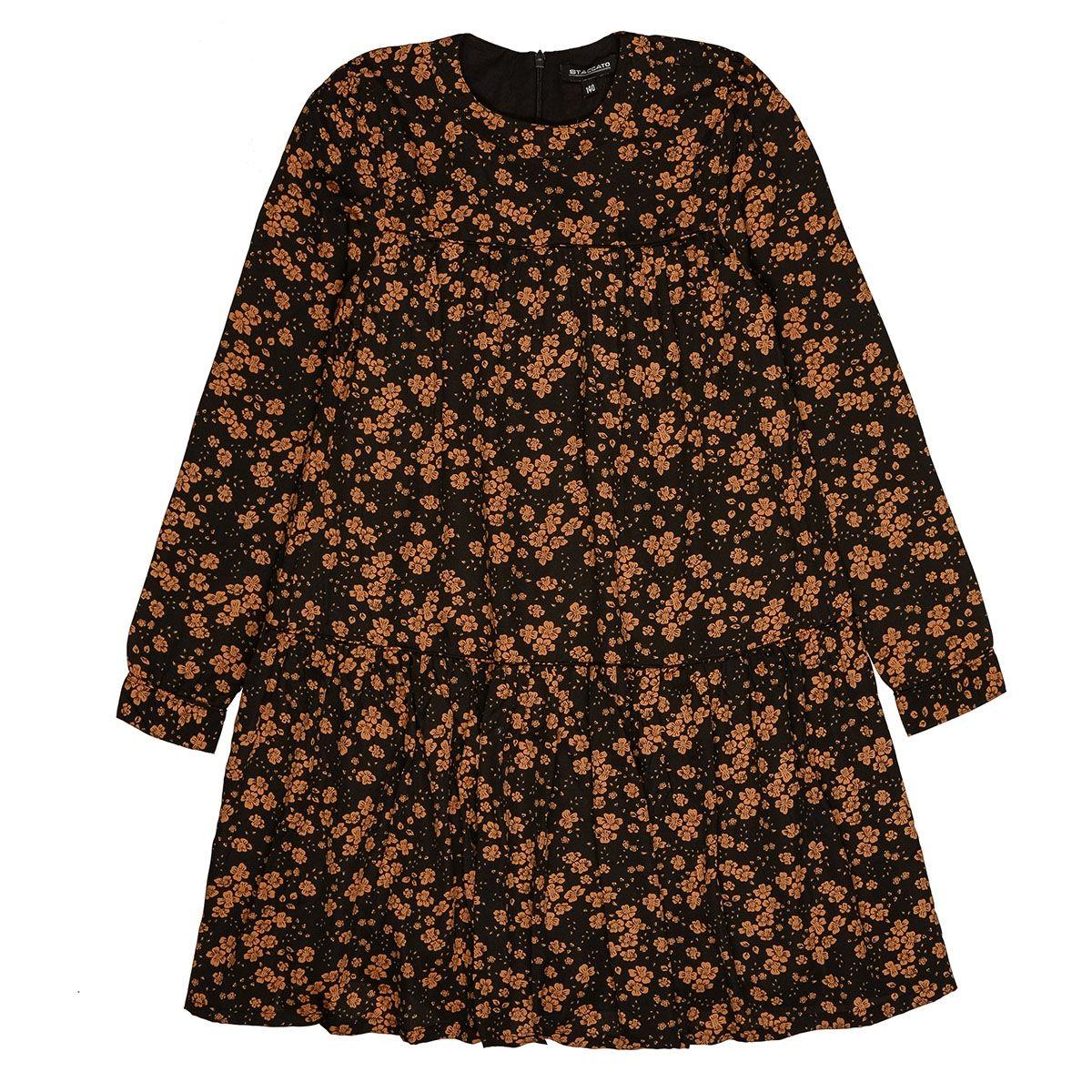 Kleid mit Allover-Blumen-Print - Black