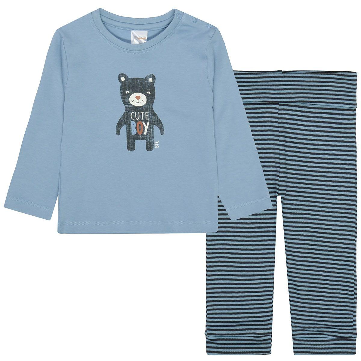 ORGANIC COTTON Pyjama CUTE - Dark Sky