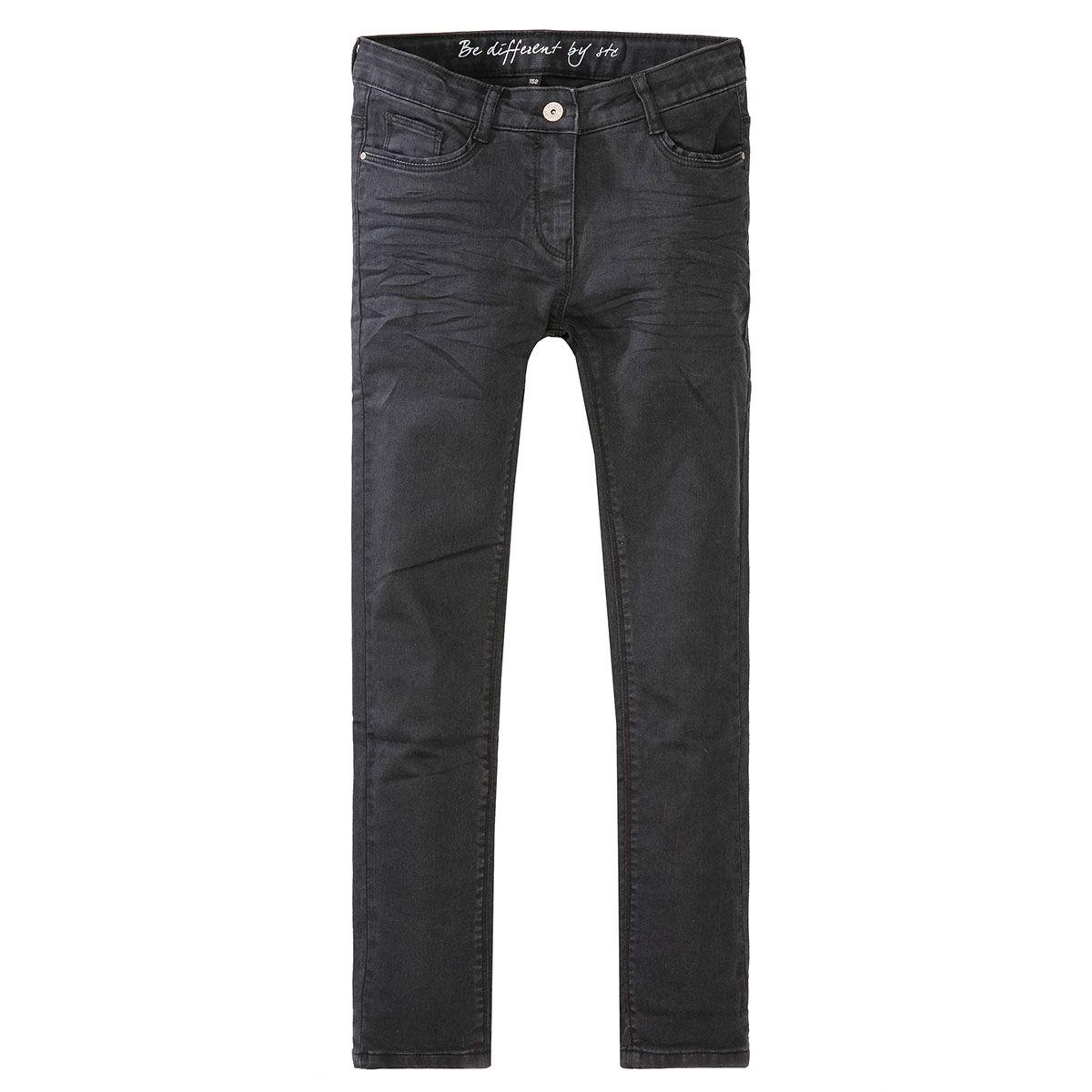 Mädchen Skinny Jeans Regular Fit - Black Denim