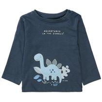 Langarmshirt DINO - Washed Blue