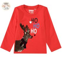 WENDEPAILLETTEN Sweatshirt Rentier - Bright Red