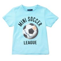 ATTENTION T-Shirt Mini Soccer - Sea Blue