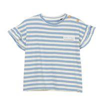 MARC O'POLO T-Shirt mit Rüschenbesatz an den Ärmeln - Soft Blue