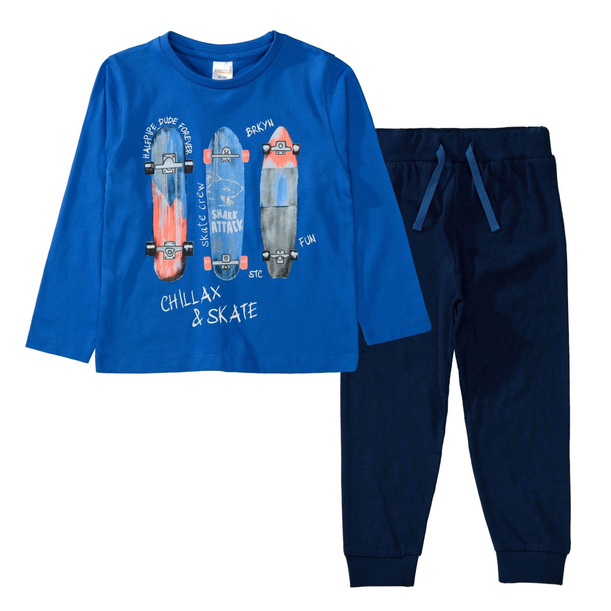 Pyjama CHILLAX X SKATE - Blue Marine