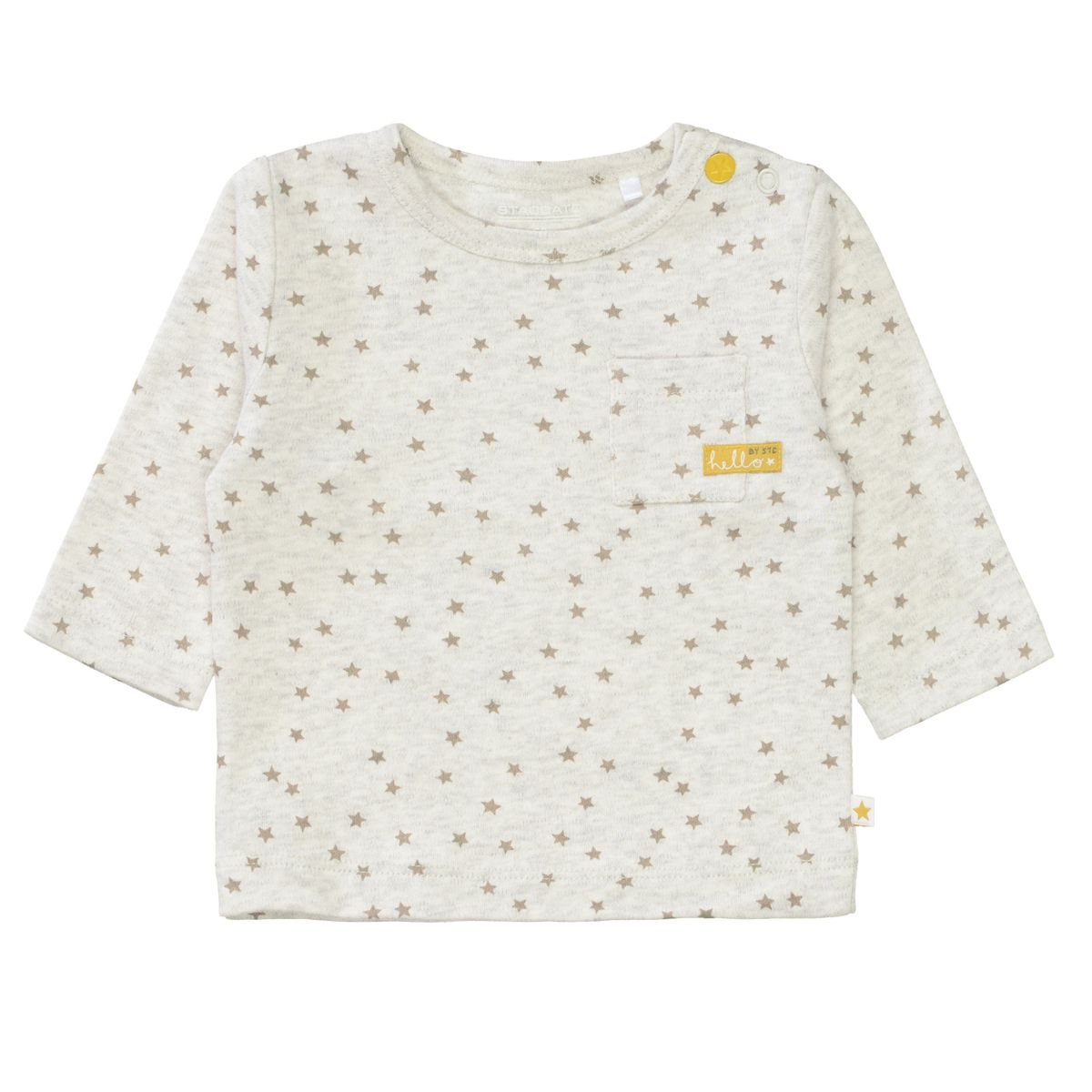 ORGANIC COTTON Langarmshirt mit Allover-Print - Soft White