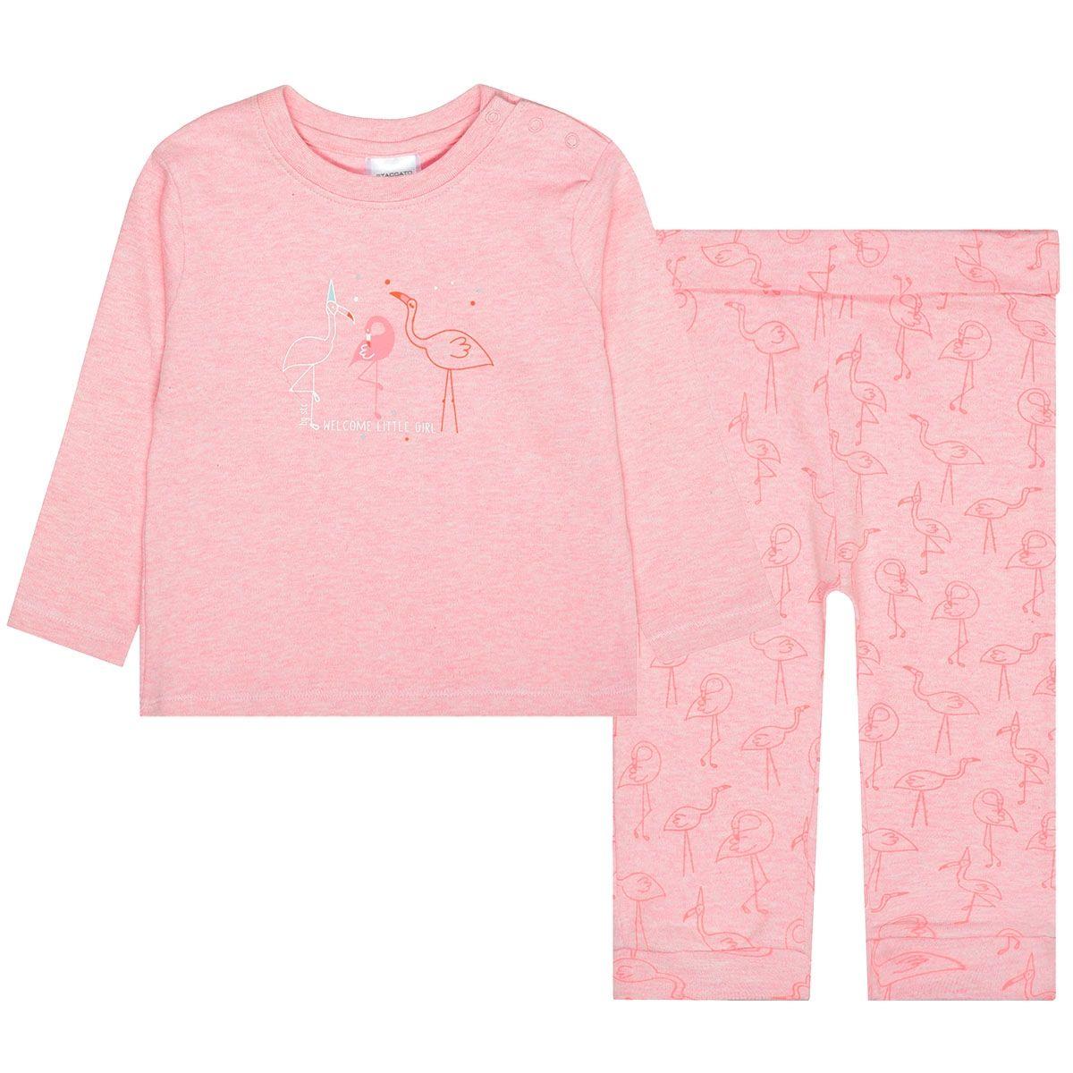 Pyjama FLAMINGO ORGANIC COTTON - Powder Melange