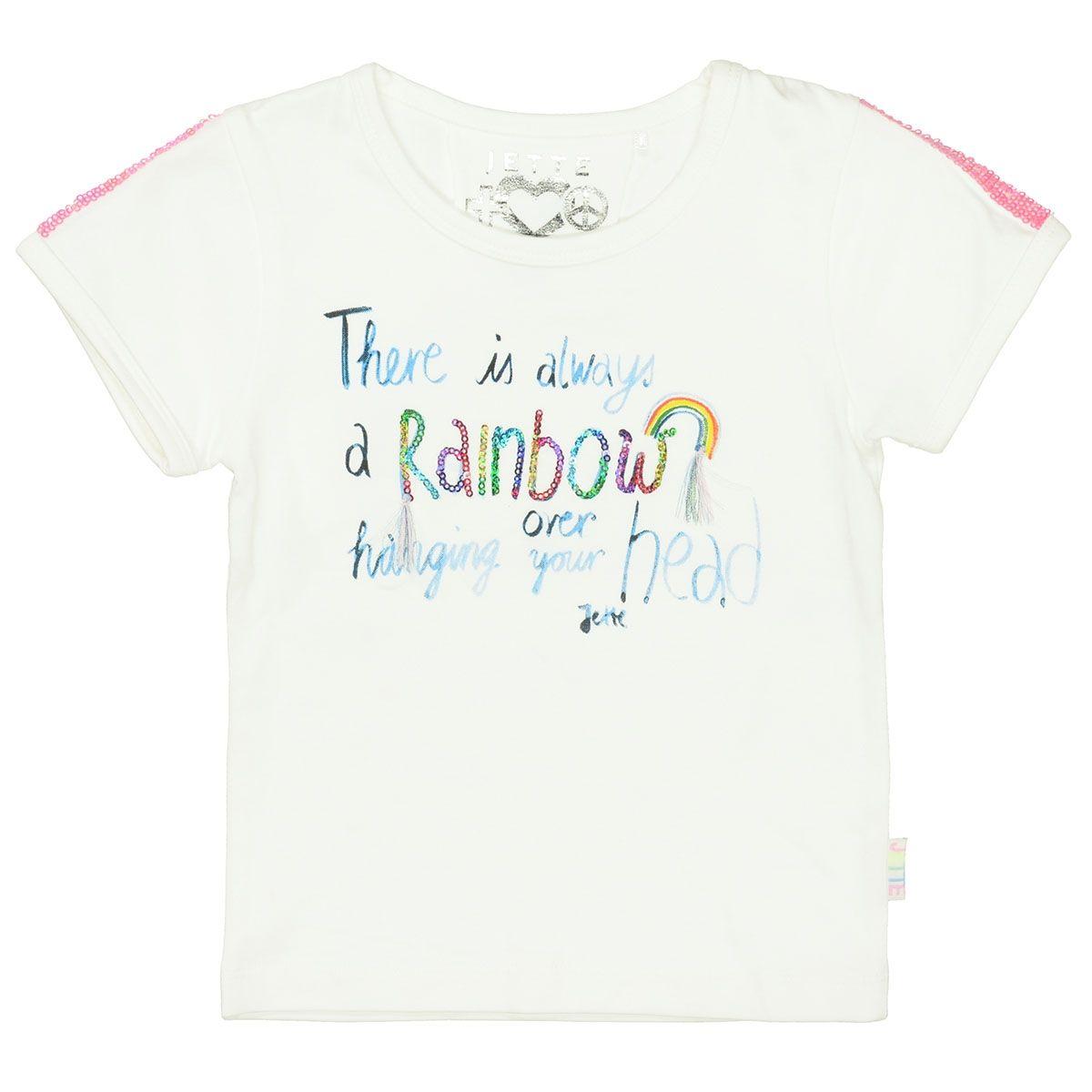 JETTE T-Shirt RAINBOW - Offwhite
