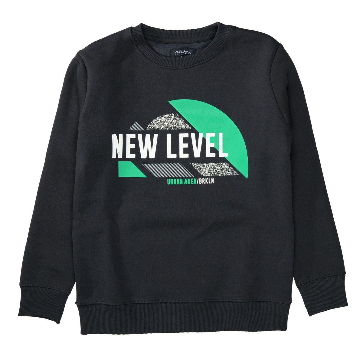 Sweatshirt mit Front-Print - Dark Anthra