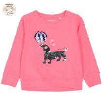 Sweatshirt mit Wendepailetten - Pink
