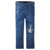Mädchen Jeans mit Applikationen - Mid Blue Denim