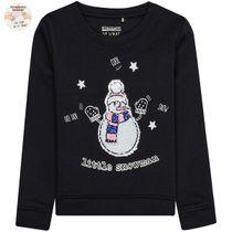 WENDEPAILLETTEN Sweatshirt Little Snowman