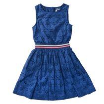 JETTE Kleid mit Lochstickerei - Dark Tinte