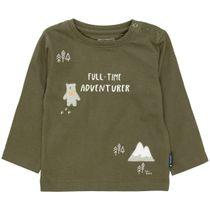 Langarmshirt mit Print - Olive