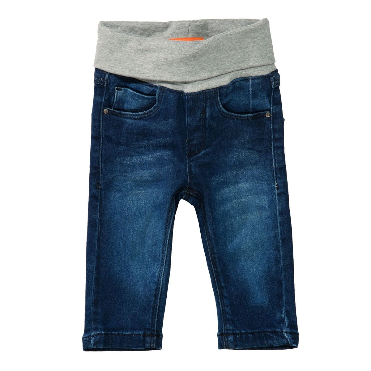 Baby Jeans mit elastischem Bund - Mid Blue Denim