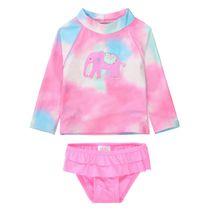 Badeset mit Elefanten-Applikation - Pink Batik