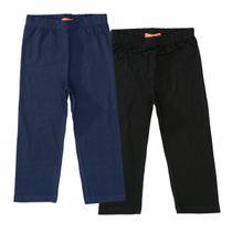 Capri-Leggings Doppelpack - Black/Marine