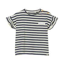 MARC O'POLO T-Shirt mit Rüschenbesatz an den Ärmeln - Washed Blue