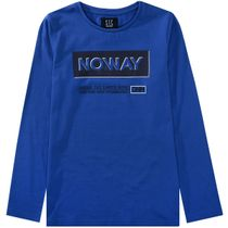 Langarmshirt mit Wording-Print - Blue