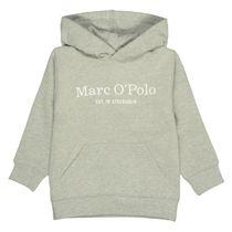 MARC O'POLO Hoodie mit Label-Print - Stone Grey Melange